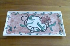 prato em cerâmica pintado a mão , tecnica baixo esmalte #prato #ceramica #pintado #mão #baixo  #esmalte