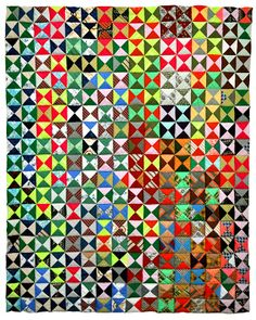 Wonkyworld: 20 More Quilts! Old Quilts, Scrappy Quilts, Vintage Quilts, Quilting Blogs, Quilting Ideas, Half Square Triangle Quilts, Patch Quilt, Modern Materials, Double Knitting