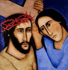 Jesus meets Simon of Cyrene