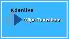 In this video you are going to see how to add wipe transitions in kdenlive. Becoming A Writer, Sponge Cake, Sloth, Editor, How To Become, Tutorials, Japanese, Ads, Random
