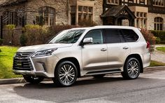 Download wallpapers Lexus LX, 4k, 2018, luxury cars, SUVs, white LX 570, new cars, Japanese cars, Lexus