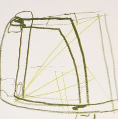 """Brian Coleman, """"Chair Details #1, Mixed Media on Paper, 12x12 -Anne Irwin Fine Art"""