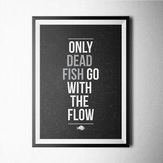 (240) Fancy - Dead Fish Print #raayt #print #poster #buy #home #decoration #wallart #fancy #artprint #deco #gift #wall #giclee #minimal #scandinavian #geometric #typography #abstract #nordic #walldecoration #posterart #art