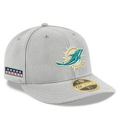 41ab00d2c4d65 Men s Miami Dolphins New Era Gray Crafted in the USA Low Profile 59FIFTY Fitted  Hat