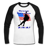 Celebrate your passion with this Speed Skating USA Men's Winter Sports T-Shirt.