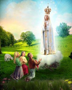 Our Lady of Fatima, Religious Art, Print by Sandra Lubreto Dettori