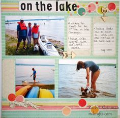 On the Lake scrapbook layout by Rachel - DCWV My Sunshine stack