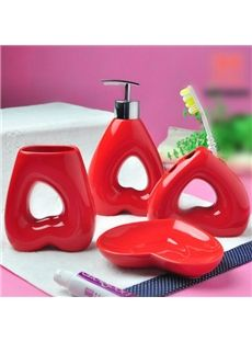 red bathroom accessories sets. High Quality Heart Pattern Red Bathroom Accessories Fancy Creative Sea World 5 Piece