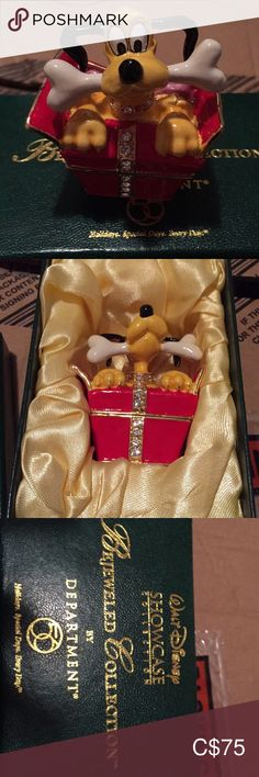 Disney's Pluto Department 56 Bejewled Collection Department 56, Disney S, Selling On Ebay, Congratulations, Gift Wrapping, Display, My Favorite Things, Box, Gifts