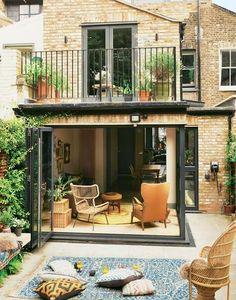 Trendy Home Rustic Exterior Ideas Extension Veranda, House Extension Design, Design Exterior, Patio Design, House Design, Rustic Houses Exterior, Patio Interior, House Extensions, Trendy Home