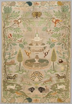 Panel, Portuguese, 17-18th century silk, woven