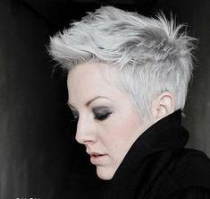 Coupe cheveux courts gris