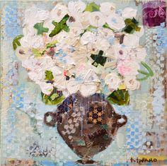 Sweet Hydrangea  36x36 mixed media