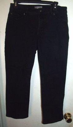 So Slimming Chico's Black Capri Jeans Size 0.5 S 6 #SoSlimmingbyChicos #CapriCropped