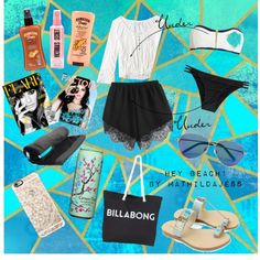 Beach vibes by mathildajess on Polyvore featuring polyvore, fashion, style, American Eagle Outfitters, Melissa Odabash, Heidi Klein, Billabong, Matthew Williamson, Casetify and Hawaiian Tropic