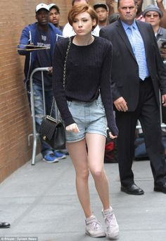 Low-key look: It seemed Karen Gillan had grown well and truly tired of getting her glad ra...