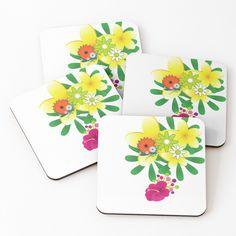 'flowers for you' Coasters by Flowers For You, Buy Flowers, Table Coasters, Pattern Design, Floral Design, My Arts, Tropical, Art Prints, Printed