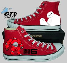 Hand Painted Converse Hi. Big Hero 6. Baymax. Genuine Touch Designs. ETSY- https://www.etsy.com/shop/GenuineTouchDesigns?ref=hdr_shop_menu FACEBOOK- https://www.facebook.com/genuinetouchdesigns