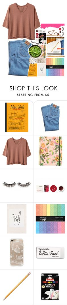"""💷"" by biteesizedd ❤ liked on Polyvore featuring Levi's, Alexander Yamaguchi, Rifle Paper Co, Korres, Martha Stewart, Urban Outfitters, Paper Mate and Ancient Greek Sandals"