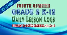 4th Quarter K-12 DLL, TG and LM for Grade 5 [Direct Links, No more Adfly] | DEPED TAMBAYAN PH