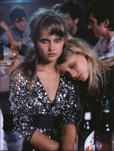 """Prom Princess Sequins """"All Night Long"""", by Peter Lindbergh in Vogue Italia #fashion"""
