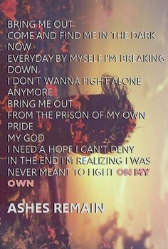 Ashes Remain - On My Own