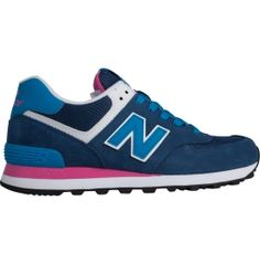 Get the perfect blend of cushion, support and style with the New Balance® 574 Fashion Sneaker. Suede and mesh upper materials offer a classic look while delivering exceptional breathability. This upper construction will allow you to wear casually for a night on the town or to the gym for a quick workout. The 574 has a wider fit in the forefoot and fits snugly around your heel, making it an extremely comfortable shoe for any occasion.