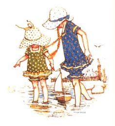 holly hobbie...old-fashioned summers at the beach in adorable swimming costumes