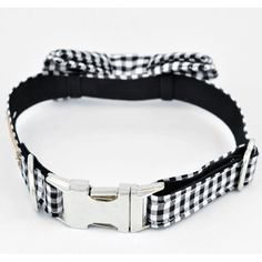 Felix Chien - Black Gingham Bow Tie Dog Collar, $39.99 (http://www.felixchien.com/black-gingham-bow-tie-dog-collar/)