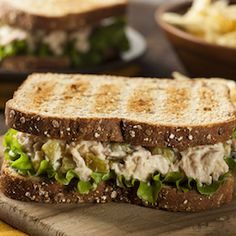 Celebrate BLT Month with these delicious sandwiches that you'll be eating all month long. Sandwiches are perfect because you can eat them all day long. We have breakfast, lunch, and dinner sandwiches that you'll absolutely fall in love with. Healthy Recipes For Weight Loss, Healthy Foods To Eat, Healthy Snacks, Healthy Eating, Clean Eating, Healthy Tuna Sandwich, Healthy Sandwiches, Salad Sandwich, Sandwich Ideas