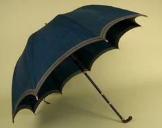 Blue Umbrella & Case, 1790-1810 - Tasha Tudor Auction via Whitaker Auctions