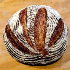 Recipe for (mostly) wholegrain sourdough bread recipe trying to approach the famous Poilâne bread from Paris at home. A traditional European style whole grain sourdough – delicious