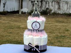 Paris diaper cake