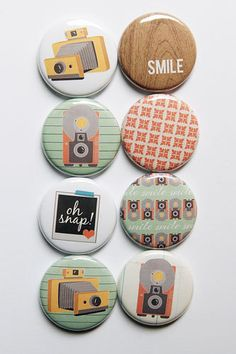 Cute Cameras Flair by aflairforbuttons on Etsy, $6.00 #aflairforbuttons #flair