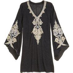 CALYPSO St. Barth Ceria Embroidered Cashmere Tunic