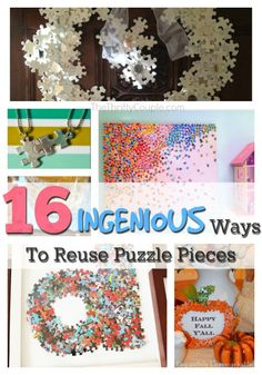 16 Ingenious Ways To Reuse Puzzle Pieces (Don't Throw Them Away!) | Kids Craft idea | Repurpose and recycle from around the house