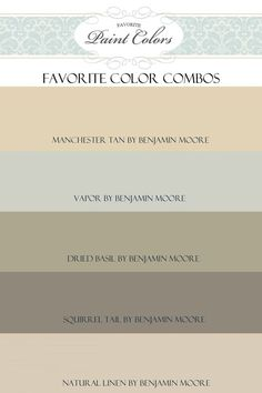 Benjamin Moore Colors - like the dried Basil & Vapor