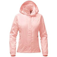 The North Face Women's Resolve 2 Jacket ($90) ❤ liked on Polyvore featuring activewear, activewear jackets, tropical peach, pink sportswear and the north face
