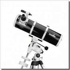 """Livré dans une superbe finition """"Black Diamond"""", le télescope de Newton Sky Watcher 150/750 EQ3-2 est un matériel très lumineux et évolutif, idéal pour aborder l'observation du ciel profond   Disponible en 3 versions: avec la monture EQ3-2sans moteurs, avec motorisation double axes ou EQ3-2 avec kit motorisé Go-To (prix dans le menu déroulant).   Cet article peut nécessiter un délai de livraison, consultez-nous."""