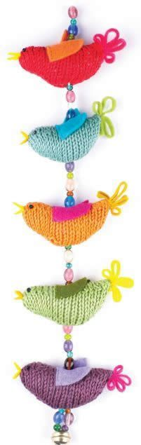 Free Knitting Pattern String of Birds by Carol Meldrum
