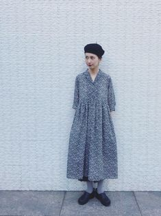 kazumiコラボワンピースを着て事務所へ