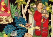 Alexander Henry Fabric Frida's Garden Black