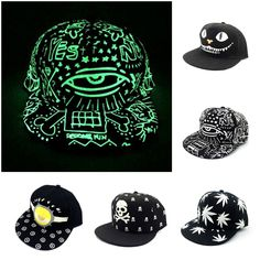 Top Fashion Funny Monster/ Big Eyes/ Skull Pattern Print Baseball Cap Novelty Luminous Sport Caps for Men and Women, Children #shoes, #jewelry, #women, #men, #hats, #watches, #belts