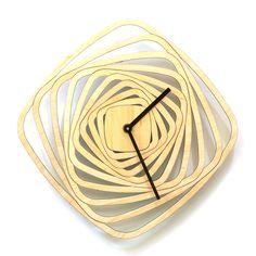 Whirl - strange looking wooden wall clock reloj de pared de madera, деревянные часы стены, orologio da parete in legno, Holz-Wanduhr, 木製の壁時計, in stock: $61.00 http://www.ardeola.hu/index.php/products-menu?view=project&id=16:whirl