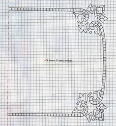Il coprivassoio è realizzato con il ricamo ad intaglio.  Il centro deve essere della stessa misura del vassoio. Per la sua realizzazione ...