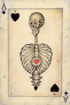 Ace of Spades, Skeleton playing card