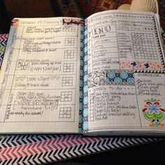 My BuJo weekly set up. Moleskine washi