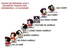 Mafalda student motivation ladder (escalera)