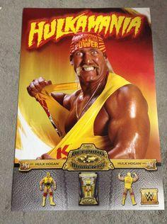 WWE Hulk Hogan Hulkamania Defining Moments Mattel WWF 24x36 Poster by TheWrestlingBurn on Etsy