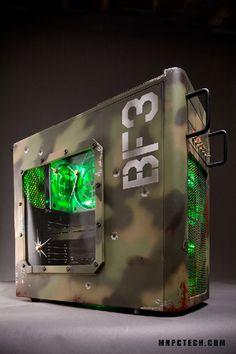 Battlefield PC case mod by www.mnpctech.com                                                                                                                                                                                 Plus